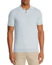 Bloomingdale's Tipped Chevron - Stitch Classic Fit Polo Shirt - Blue