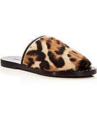 Frēda Salvador - Women's Pure Jaguar Print Slide Sandals - Lyst