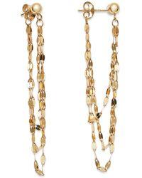 Moon & Meadow - Draped Triple Chain Drop Earrings In 14k Yellow Gold - Lyst