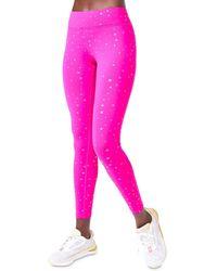 Terez Foil Star Leggings - Pink