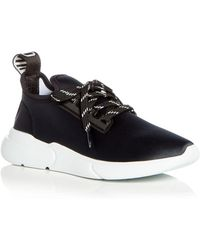 Moschino - Women's Neoprene Lace Up Sneakers - Lyst