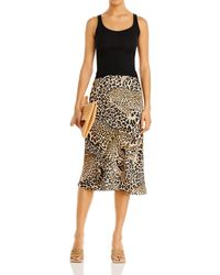 Aqua X Mary Katrantzou Leopard Print Midi Skirt - Multicolour