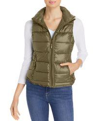 Marc New York Packable Hooded Puffer Vest - Green