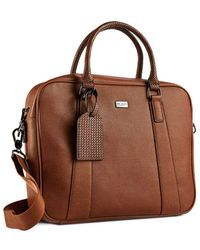 Ted Baker Textured Faux-leather Document Bag - Brown