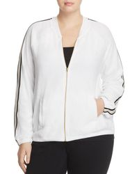 Juicy Couture Microterry Stripe Track Jacket