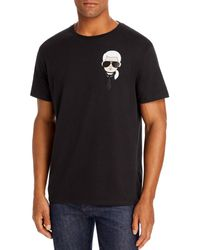 Karl Lagerfeld Mini Karl Head Graphic Tee - Black