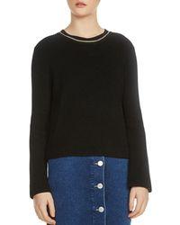 Maje - Melting Long-sleeve Chain-trim Sweater - Lyst
