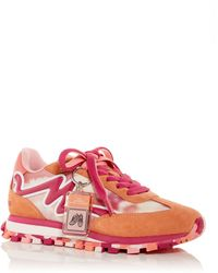 Marc Jacobs The Tie Dye Traveller Low Top Trainers - Pink
