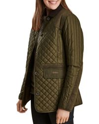 Barbour - Dunnock Quilted Waxed Jacket - Lyst