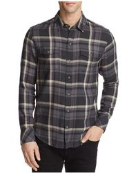 PAIGE - Everett Plaid Button-down Shirt - Lyst