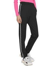 Maje Porto Studded Track Pants - Black
