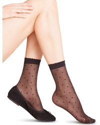 Falke - Sheer Dot Ankle Socks - Lyst