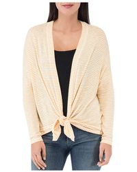 B Collection By Bobeau - Cecile Striped Tie - Front Cardigan - Lyst