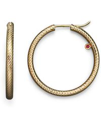 Roberto Coin - 18k Yellow Gold Hoop Earrings - Lyst