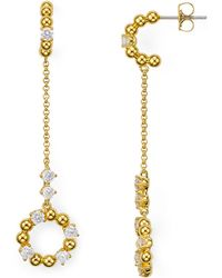 Nadri - Eclat Cubic Zirconia Chain Drop Earrings - Lyst