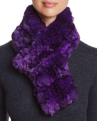 Maximilian - Chinchilla Fur Knit Scarf - Lyst