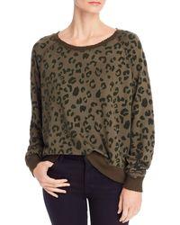 Rails Theo Flocked Leopard Print Sweatshirt - Multicolor