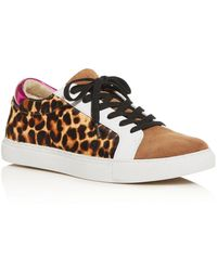 Kenneth Cole Kam Animal Print Hair Calf Trainer - Natural