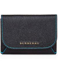 Burberry - Haymarket Mayfield Leather Card Case Set - Lyst