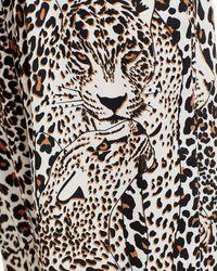 Aqua X Mary Katrantzou Leopard Print Halter Top - Black