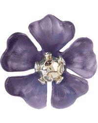Alexis Bittar Sputnik Crystal & Multicolour Stone Flower Pin - Purple