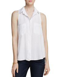 Bella Dahl Top - Basic Button Down - White