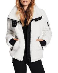Sam. Denver Faux Shearling Coat - White