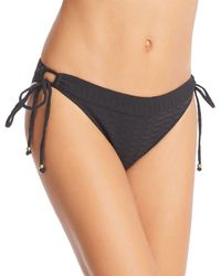 Lucky Brand Shoreline Chic Hoop Hipster Bikini Bottom - Black
