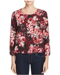 Cupcakes And Cashmere - Bentley Floral Print Blouse - Lyst