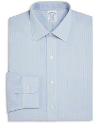 Brooks Brothers   Regent Overcheck Classic Fit Dress Shirt   Lyst