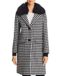 Dawn Levy Noelle Fur Trim Coat - Black