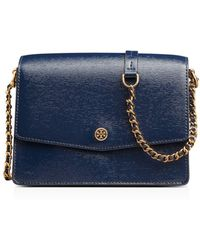 Tory Burch - Robinson Patent Leather Convertible Shoulder Bag - Lyst