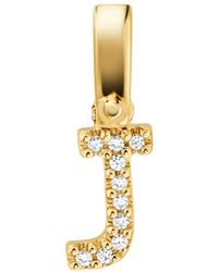Michael Kors 14k Gold-plated Sterling Silver Pavé Alphabet Charm - Metallic