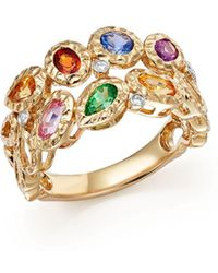 Bloomingdale's - Multicolor Sapphire And Diamond Band In 14k Yellow Gold - Lyst