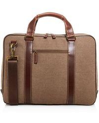 Boconi Bryant Lte Zipster Canvas Briefcase - Brown