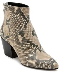 Dolce Vita - Women's Coltyn Almond Toe Snakeskin - Embossed Leather Booties - Lyst