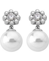 Majorica - Beaded Flower & Simulated Pearl Earrings - Lyst