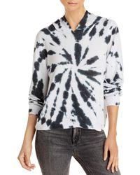 Aqua Tie - Dye Hooded Sweatshirt - Black