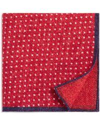 Bloomingdale's - Dot/box Weave Pocket Square - Lyst