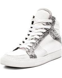 Zadig & Voltaire Women's ZV1747 Mid Glit High Top Sneakers JB0CACpwm