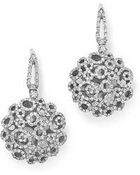 Roberto Coin | 18k White Gold Moresque Diamond Earrings | Lyst