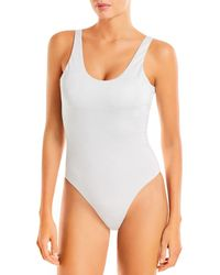 Aqua Swim Metallic One Piece Swimsuit