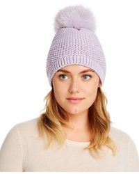 Kyi Kyi Slouchy Hat With Fox Fur Pom - Pom - Multicolour
