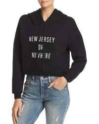 Knowlita - New Jersey Or Nowhere Cropped Hooded Sweatshirt - Lyst