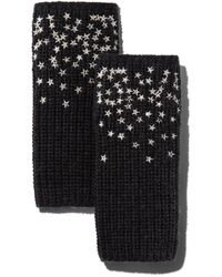 Carolyn Rowan Accessories Scattered Stars Embroidered Fingerless Gloves - Multicolour