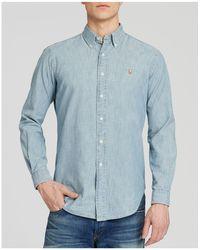 Polo Ralph Lauren - Chambray Button-down Shirt - Classic Fit - Lyst