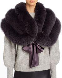 Maximilian - Fox Fur & Silk Stole - Lyst
