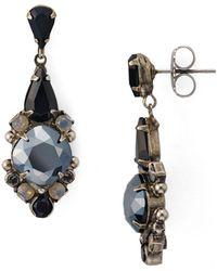 Sorrelli Alyssum Drop Earrings - Black