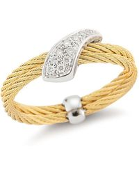Alor - Braided Diamond Ring - Lyst