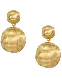 "Marco Bicego ""africa Collection"" 18k Yellow Gold Bead Drop Earrings - Metallic"